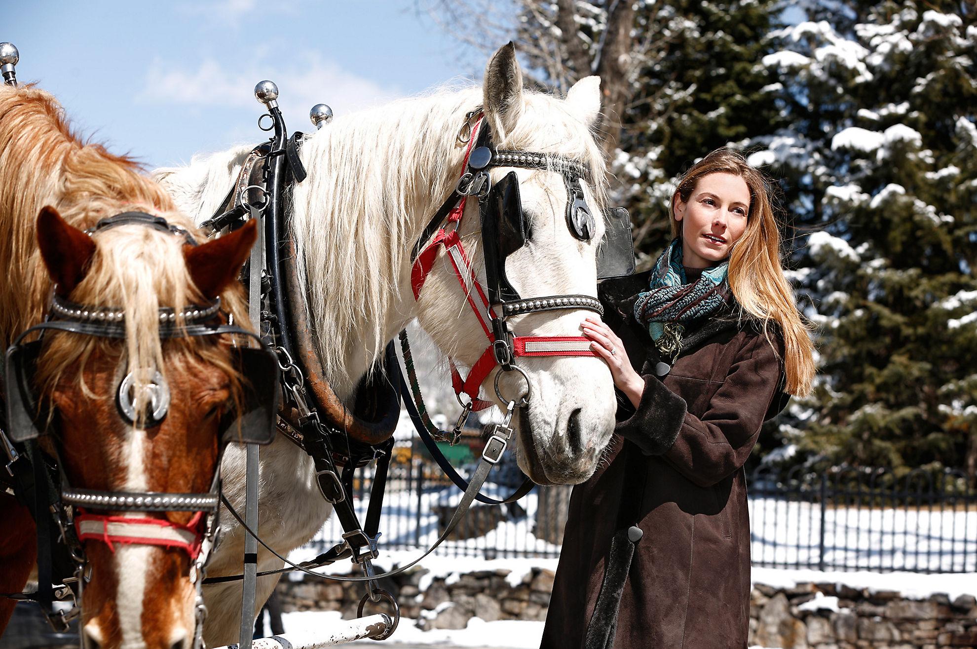 Krista Hooded Shearling Sheepskin Coat (Plus 18-20)