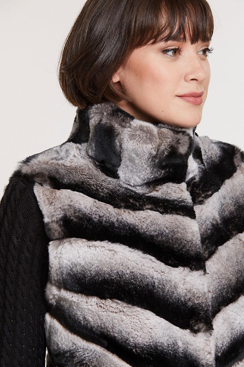Phoebe Rex Rabbit Fur Vest