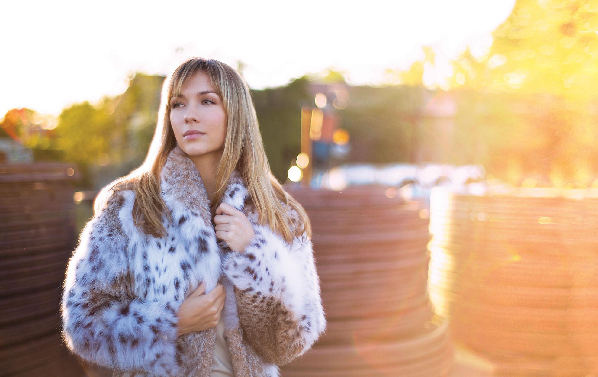 Maliya Lynx Fur Jacket