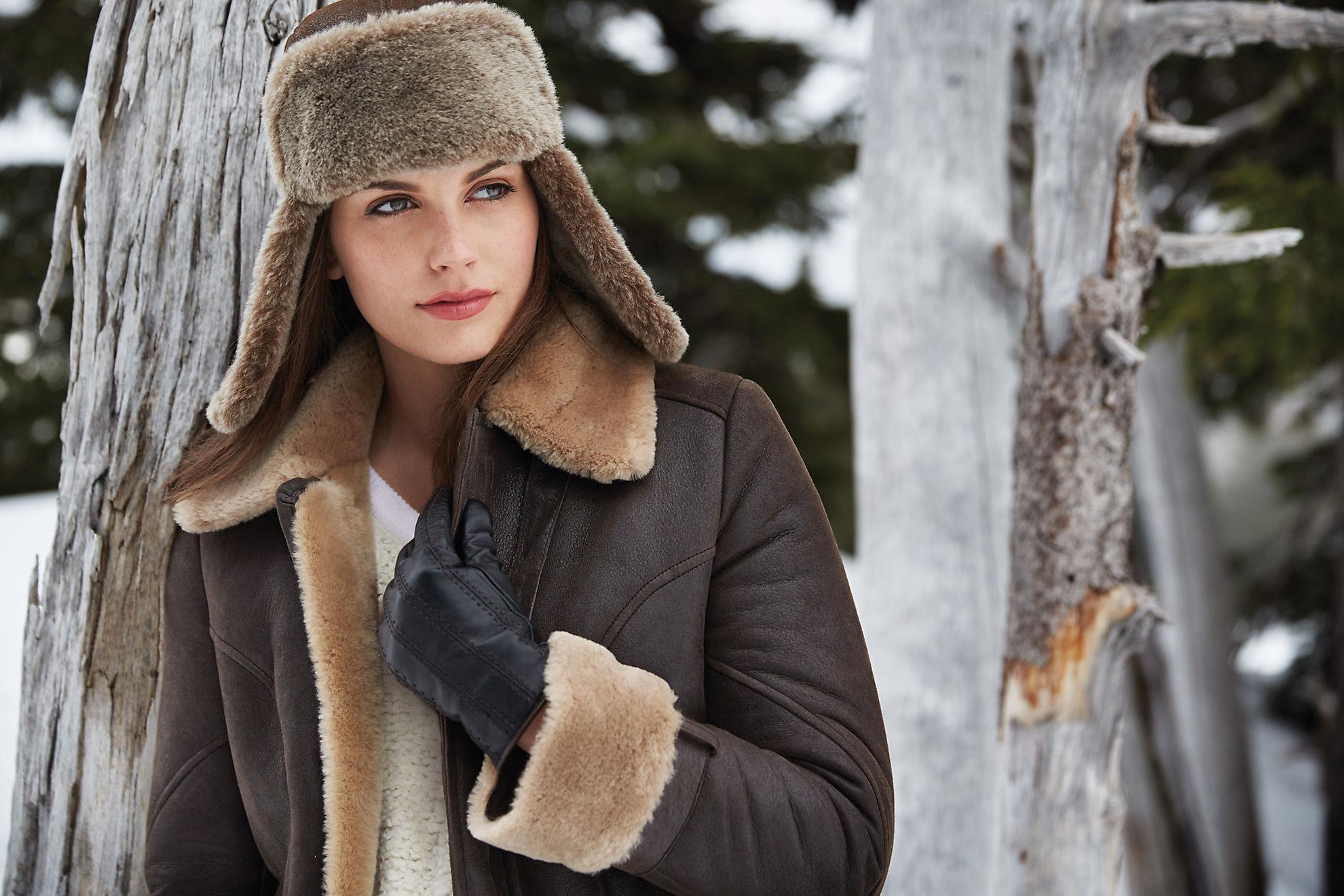 Shearling Sheepskin Trapper Hat