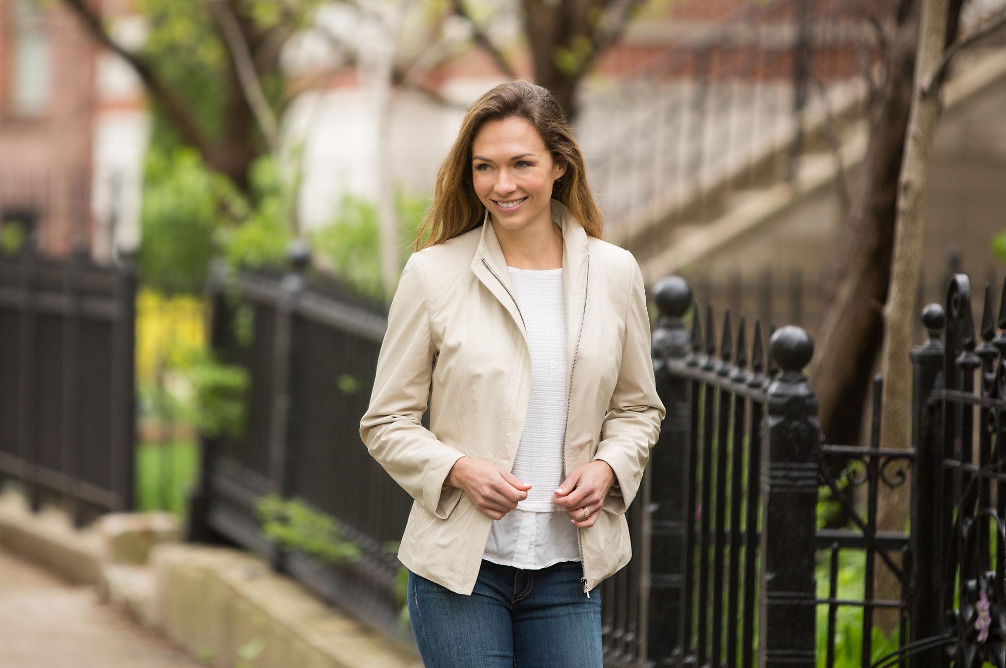 Priscilla Italian Goatskin Leather Jacket
