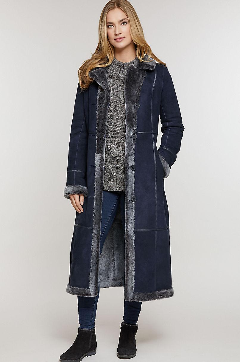 Colette Reversible Shearling Sheepskin Coat
