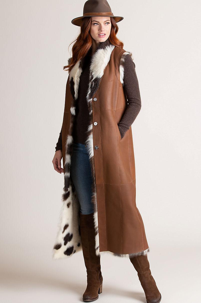 Margot Reversible Full-Length Spanish Toscana Sheepskin Vest