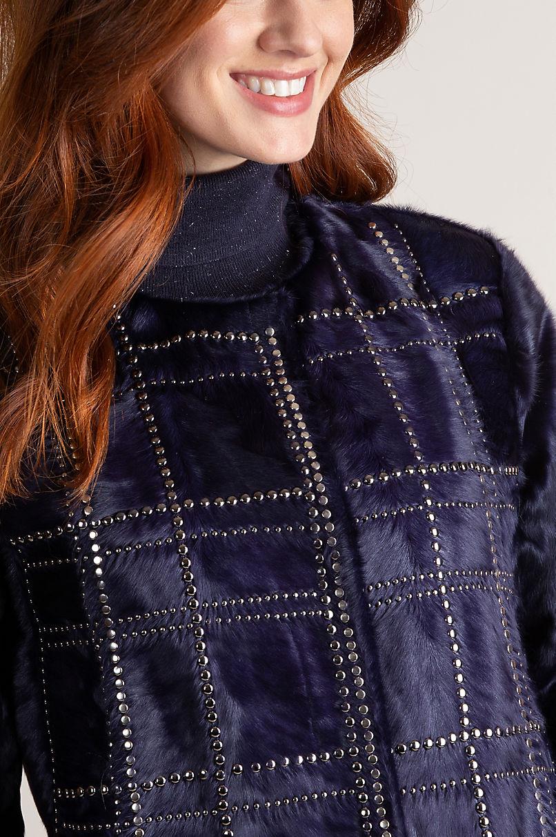 Ariana Studded Xiangao Lamb Fur Coat