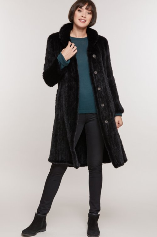Asta Knitted Danish Mink Fur Coat