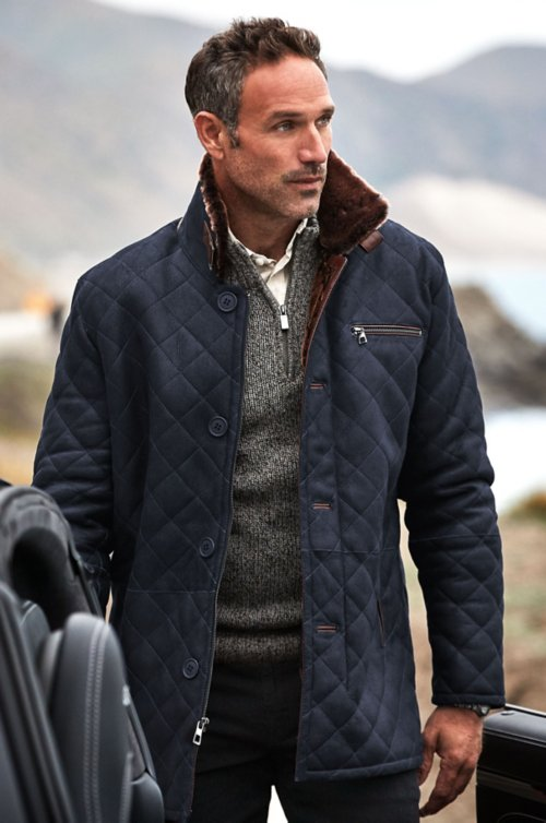 Hayes Quilted Spanish Shearling Sheepskin Car Coat