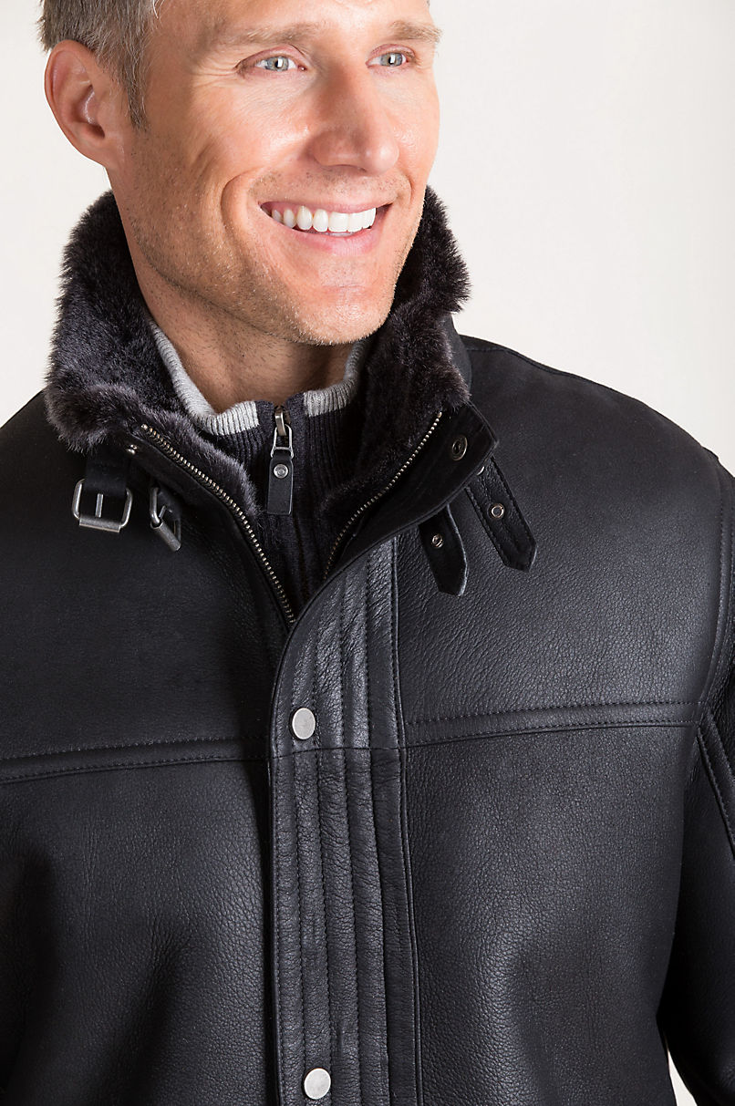 Danny Spanish Shearling Sheepskin Moto Jacket