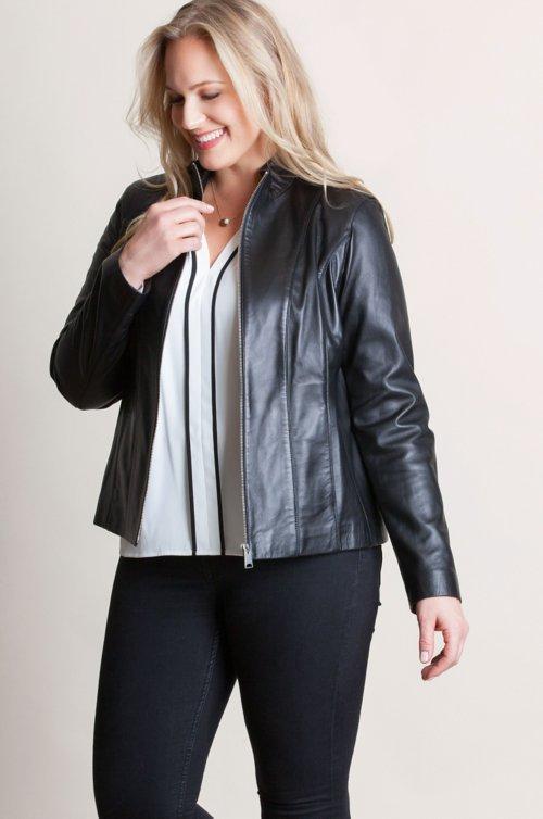 Greenwich Lambskin Leather Jacket – Plus (18-24)
