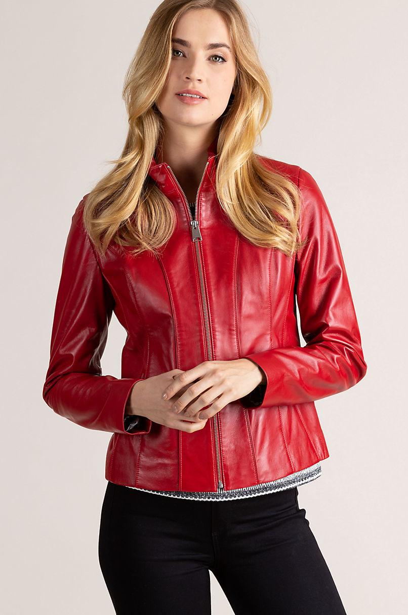 Greenwich Lambskin Leather Jacket