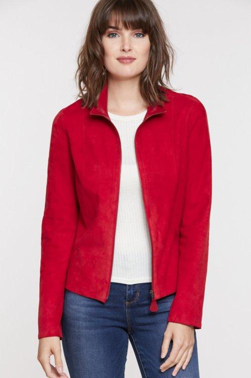Nicky Reversible Goatskin Suede Leather Jacket