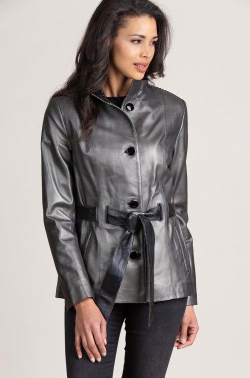 Tribeca Spanish Lambskin Leather Coat