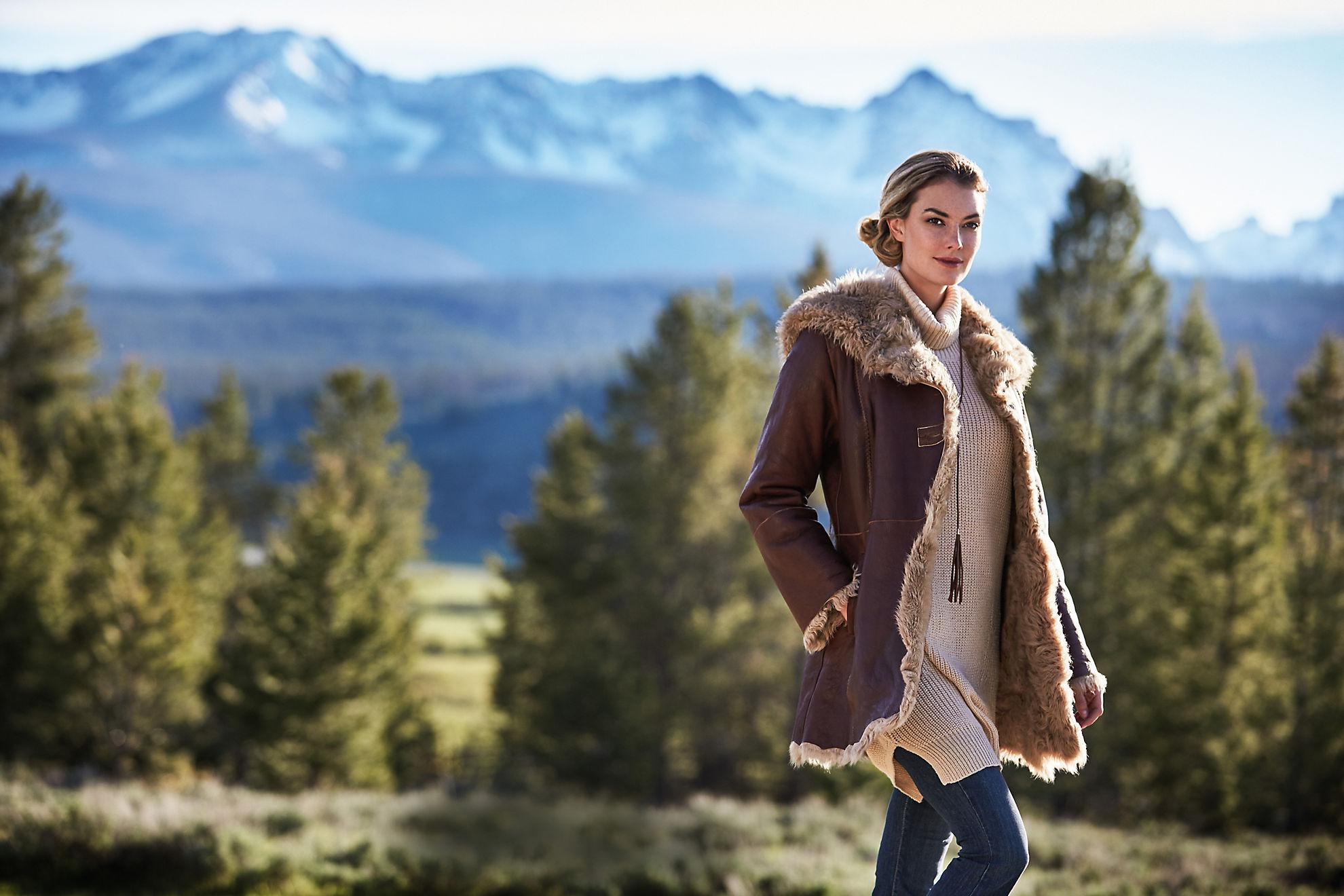 Chloe Spanish Curly Tigrado Sheepskin Coat
