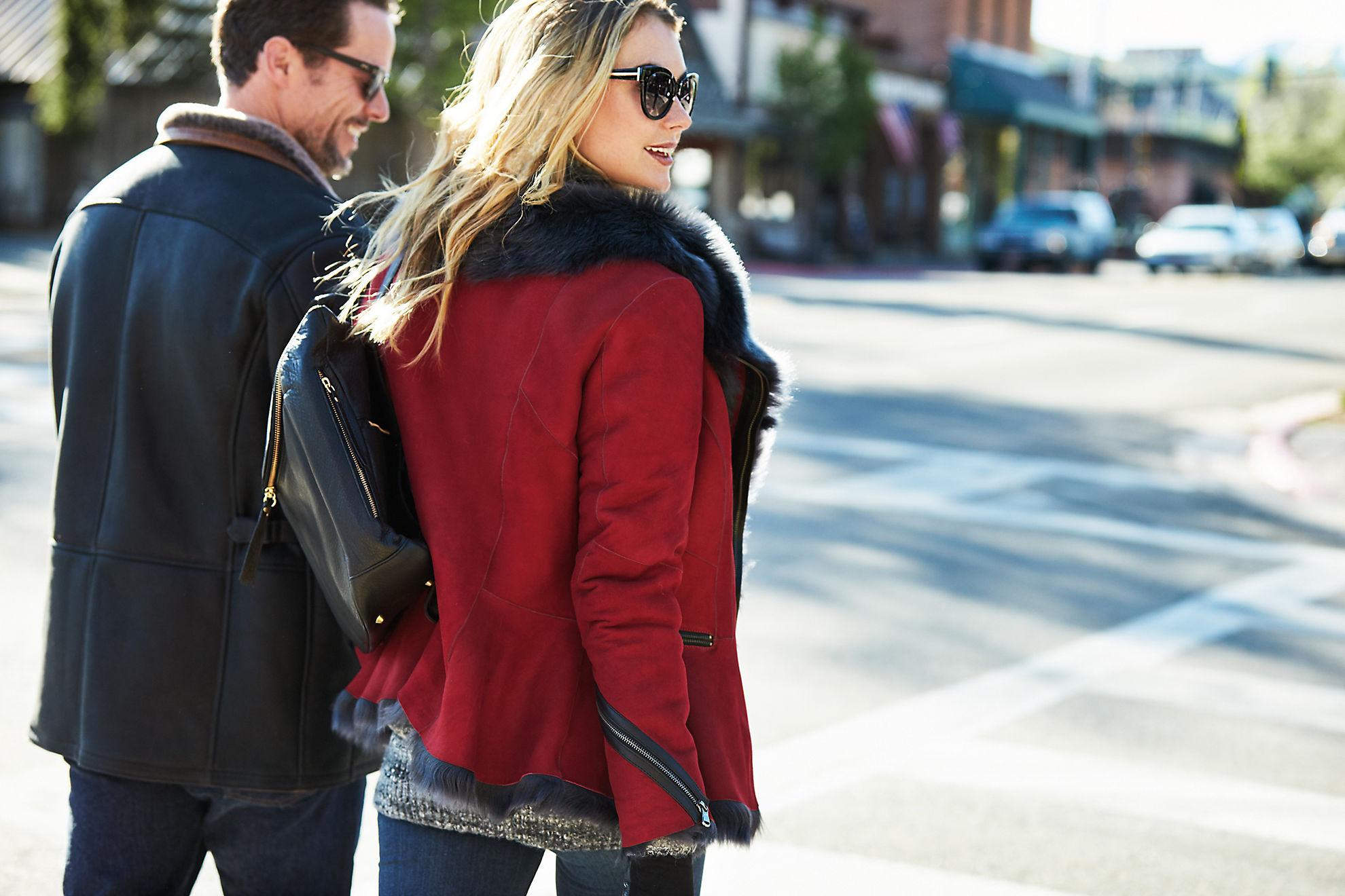 Scarlett Asymmetric Toscana Sheepskin Jacket