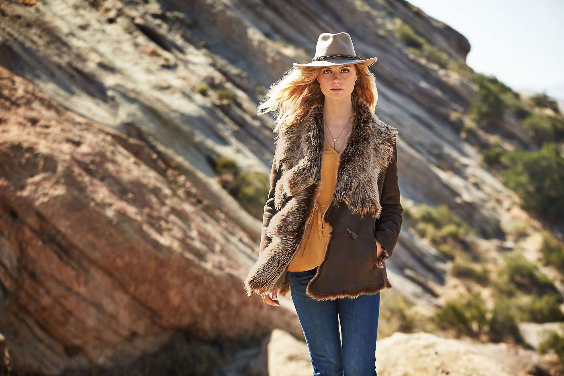 Montana Raw Edge Toscana Sheepskin Coat