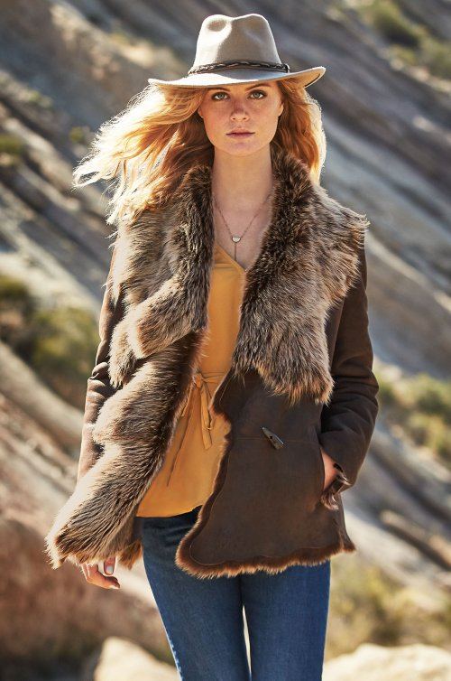 Montana Raw Edge Toscana Sheepskin Coat