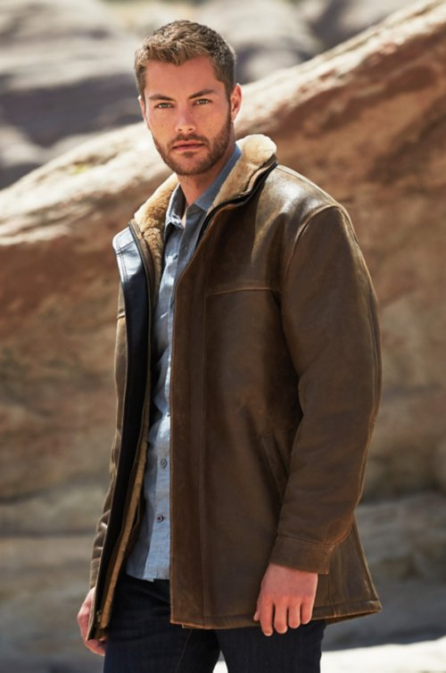 Corbin European Shearling Sheepskin Coat