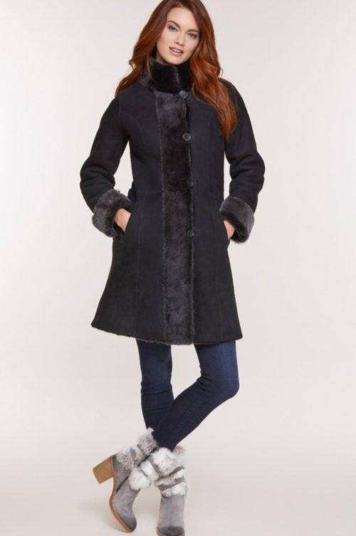 Chante Reversible Spanish Merino Shearling Sheepskin Coat