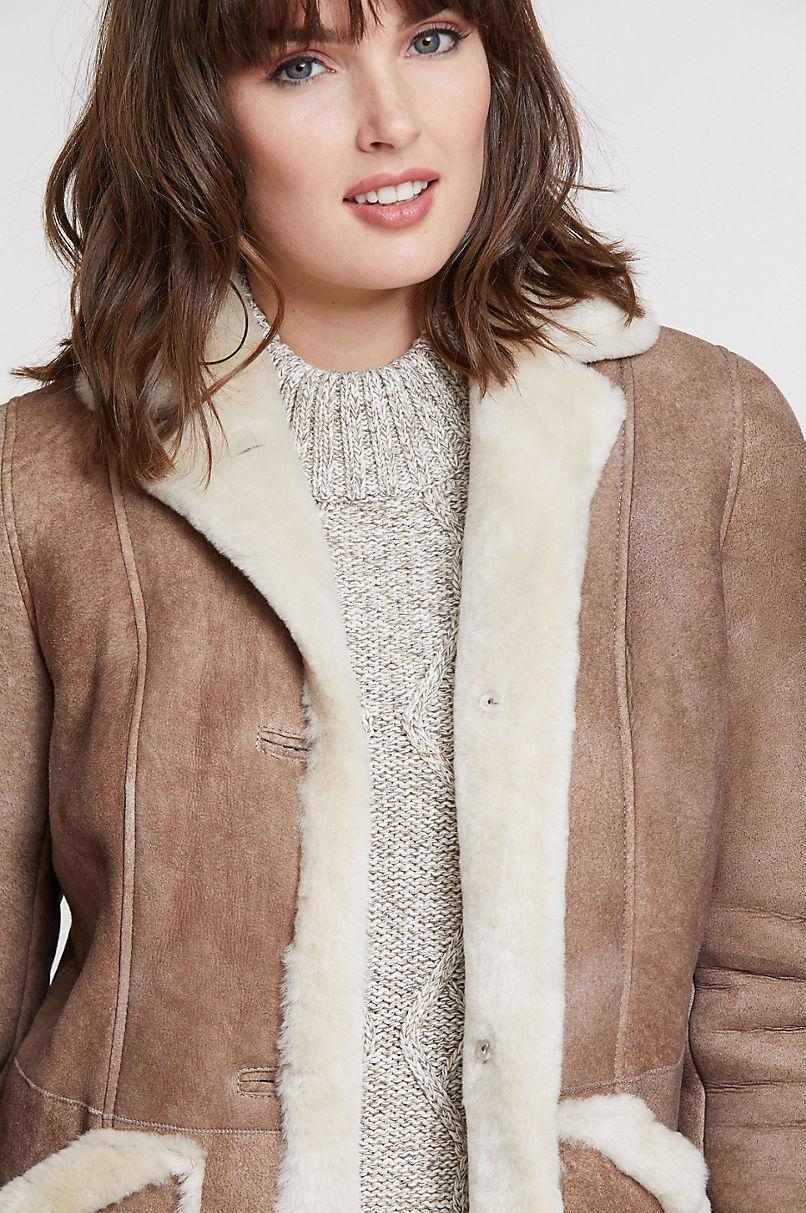 Marleigh Shearling Sheepskin Rancher Coat