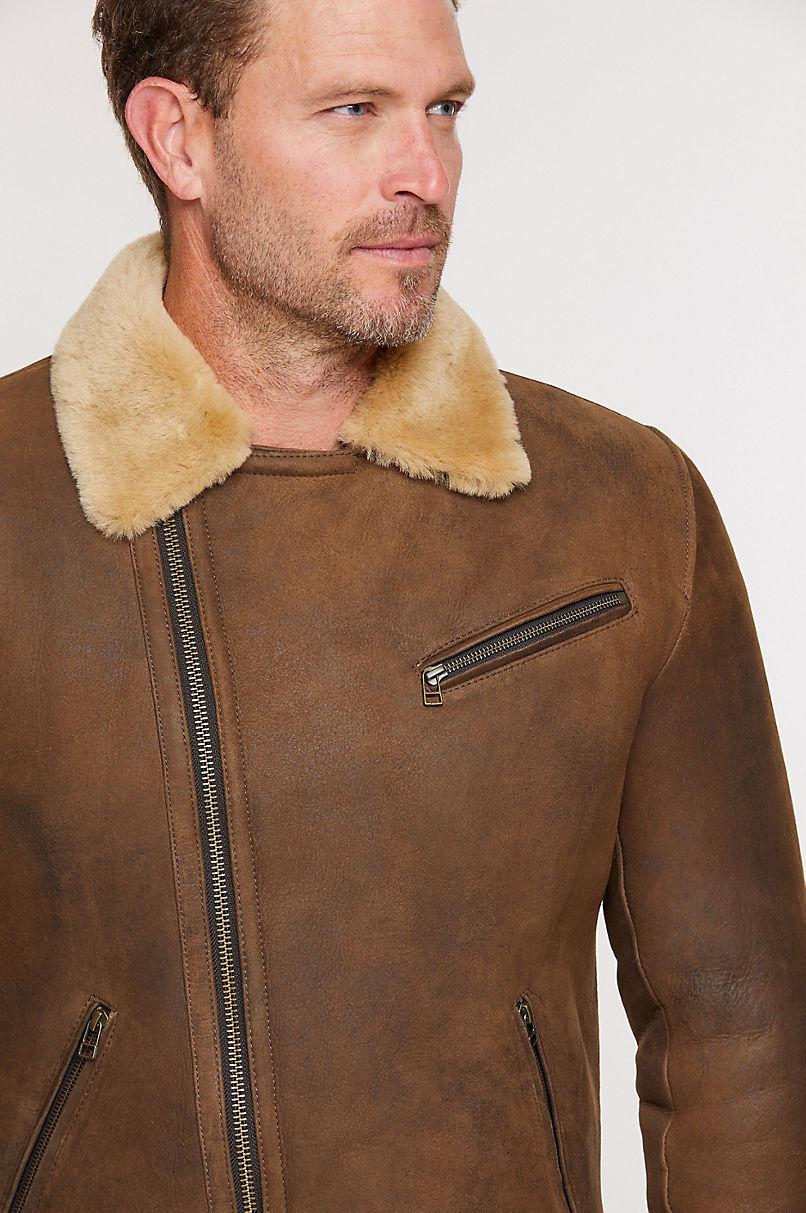Riley Shearling Sheepskin Moto Jacket