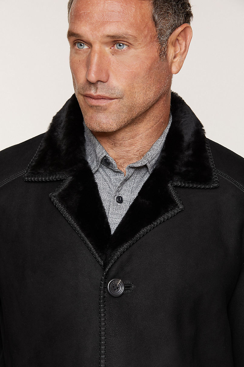 Victor Shearling Sheepskin Coat