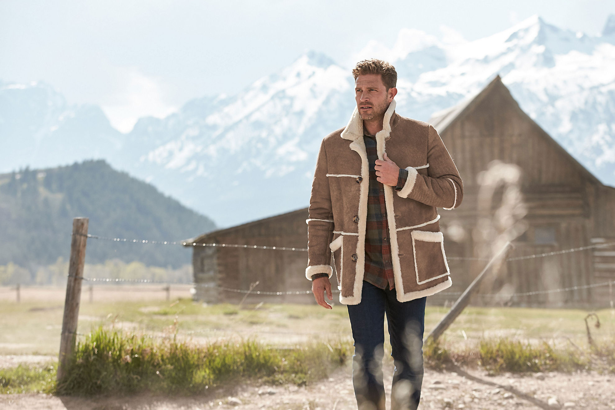 Maverick Shearling Sheepskin Rancher Coat