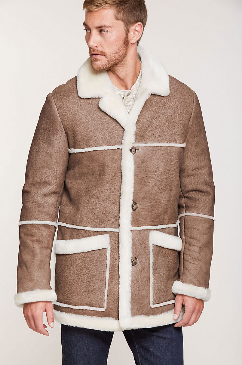 Maverick Rancher Shearling Sheepskin Coat