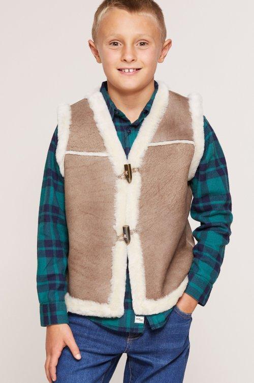 Children's Unisex Sheepskin Rancher Vest