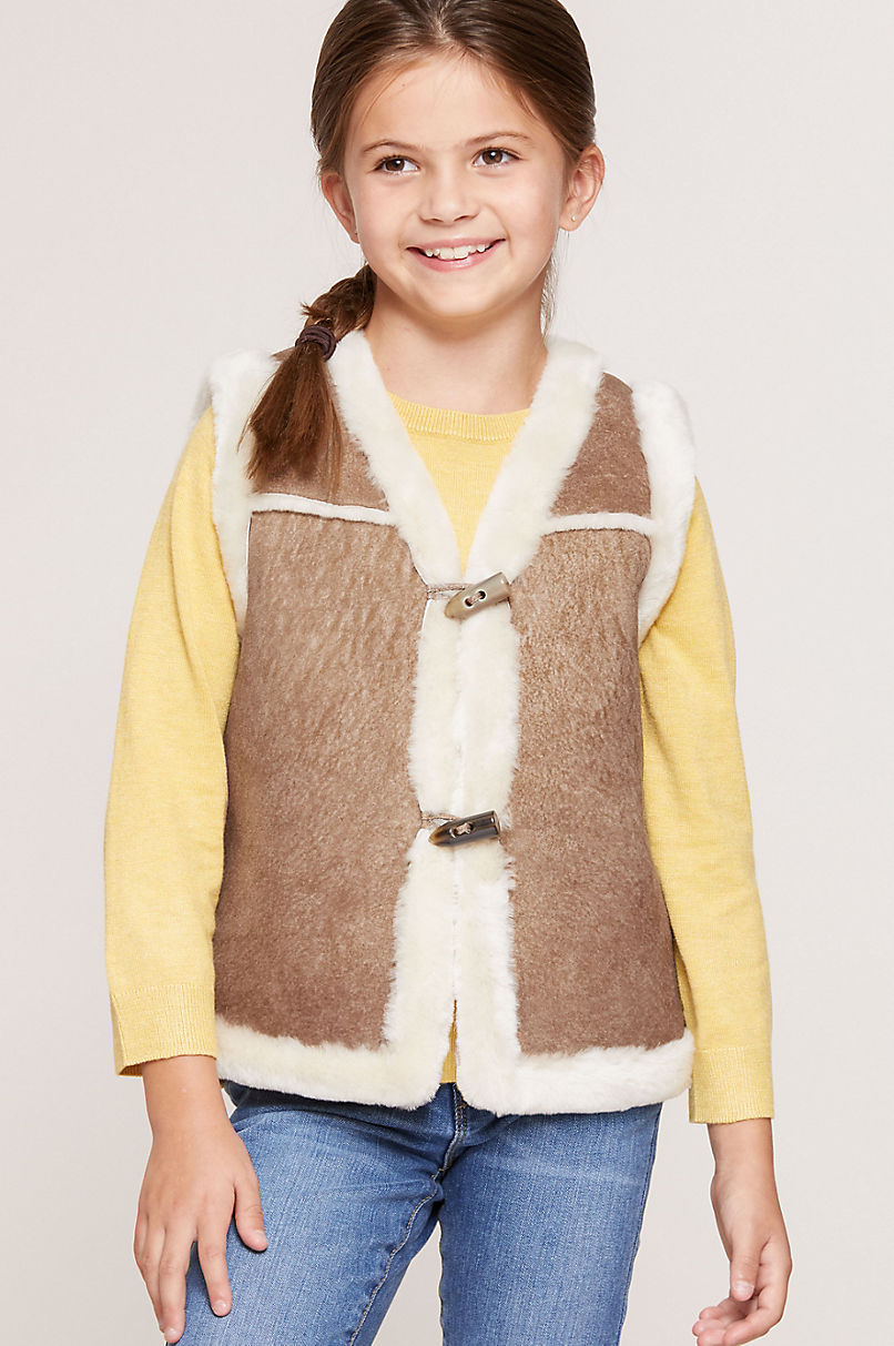 Children's Unisex Sheepskin Rancher Vest