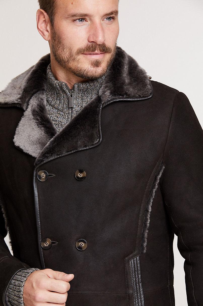 Archie Shearling Sheepskin Pea Coat
