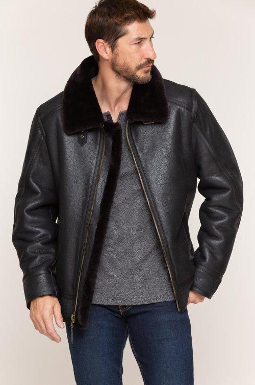 Brody Shearling Sheepskin Bomber Jacket
