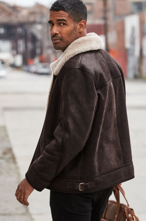 Brody Shearling Sheepskin Bomber Jacket