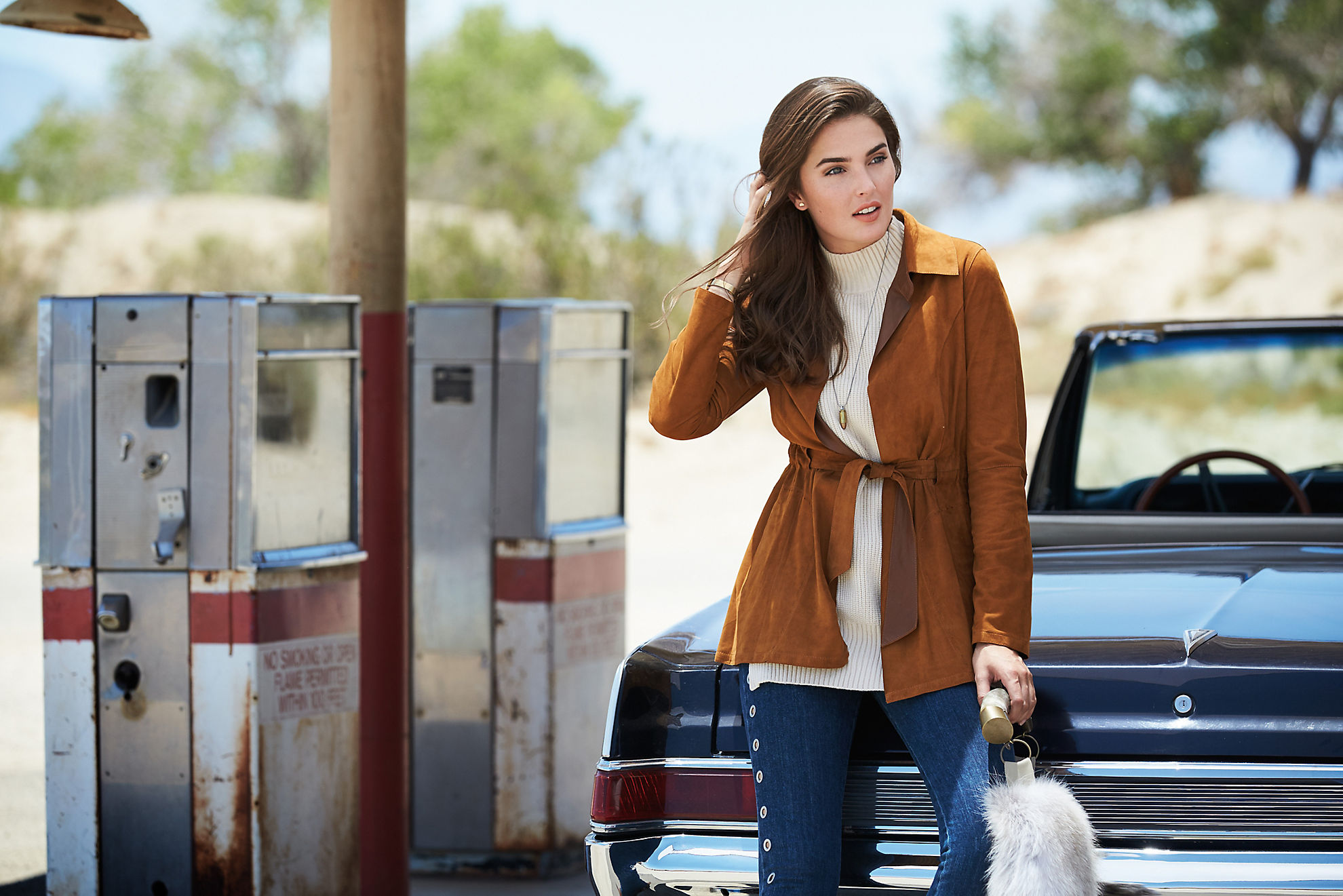 Vera Reversible Goatskin Suede Leather Jacket
