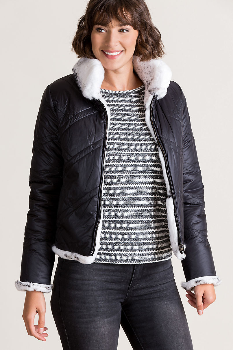Salina Reversible Rex Rabbit Fur Jacket