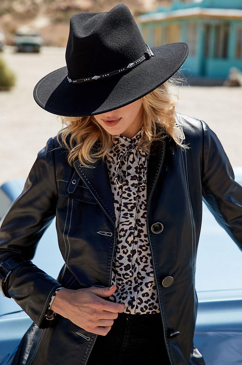 Mia Italian Lambskin Leather Coat