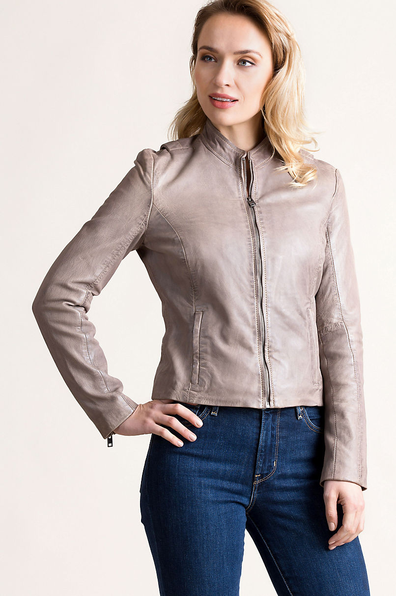 Chessy Lambskin Leather Moto Jacket