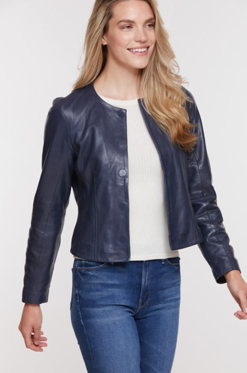 Susie Lambskin Leather Jacket