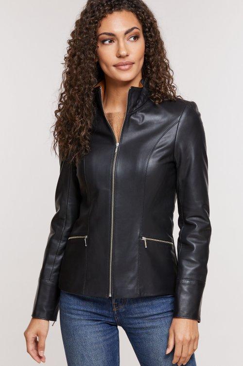 Katie Nappa Lambskin Leather Jacket