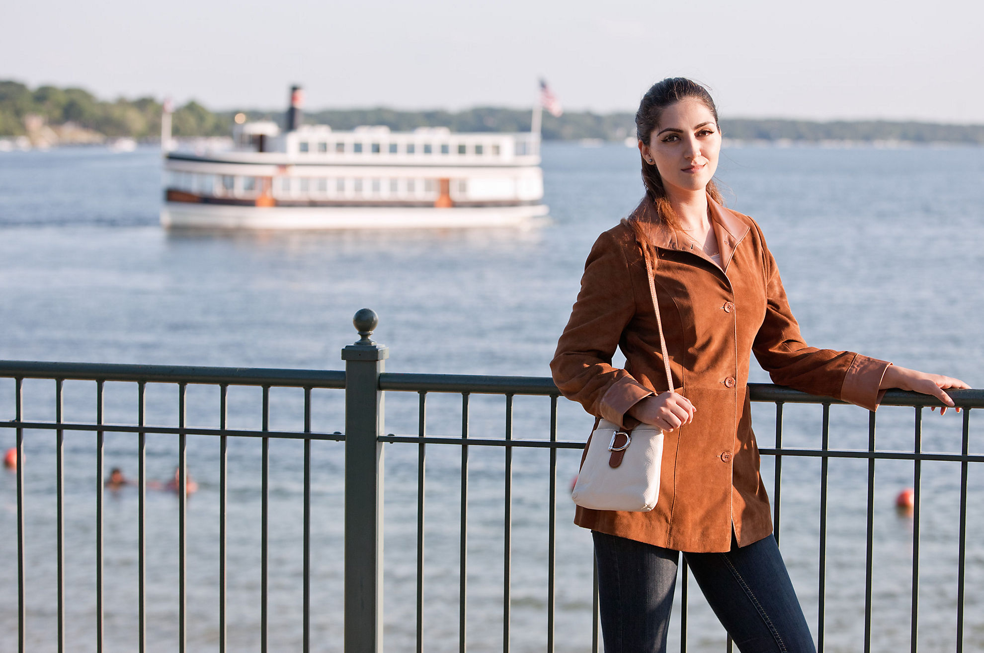 Fiona Lambskin Suede Leather Jacket