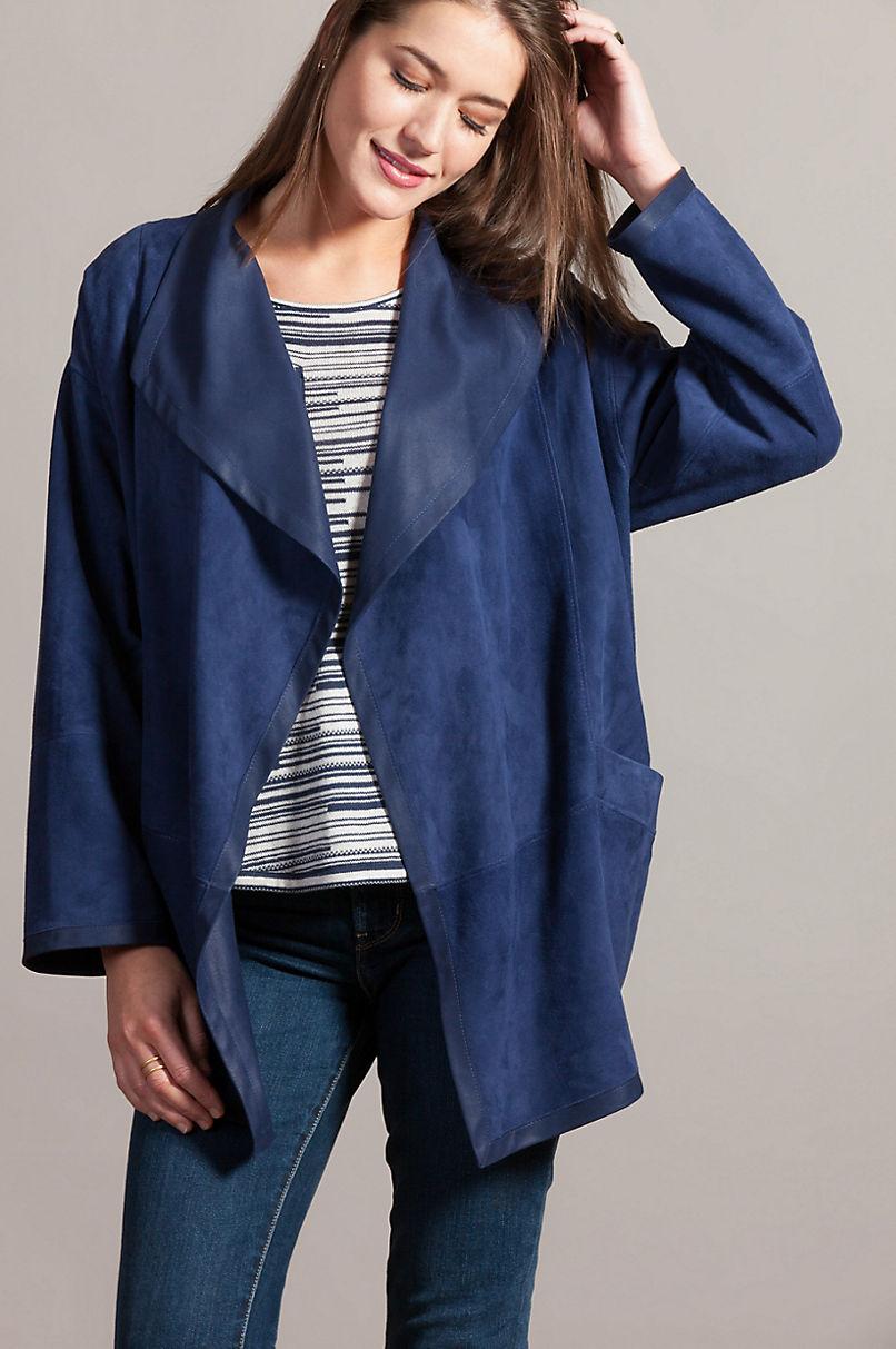 Erica Lambskin Suede Leather Jacket