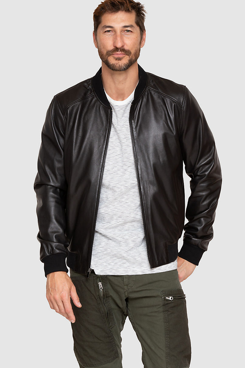 Rocco Lambskin Leather Baseball Jacket
