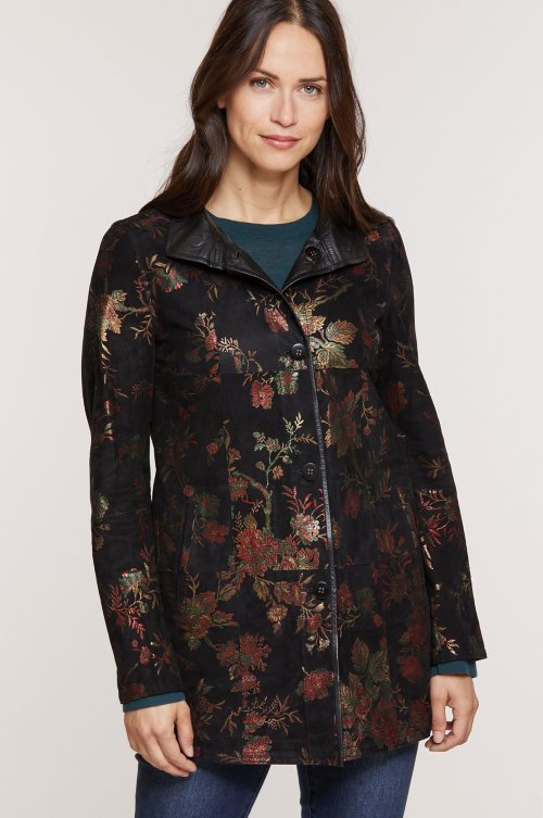 Sonia Reversible Lambskin Suede Leather Jacket