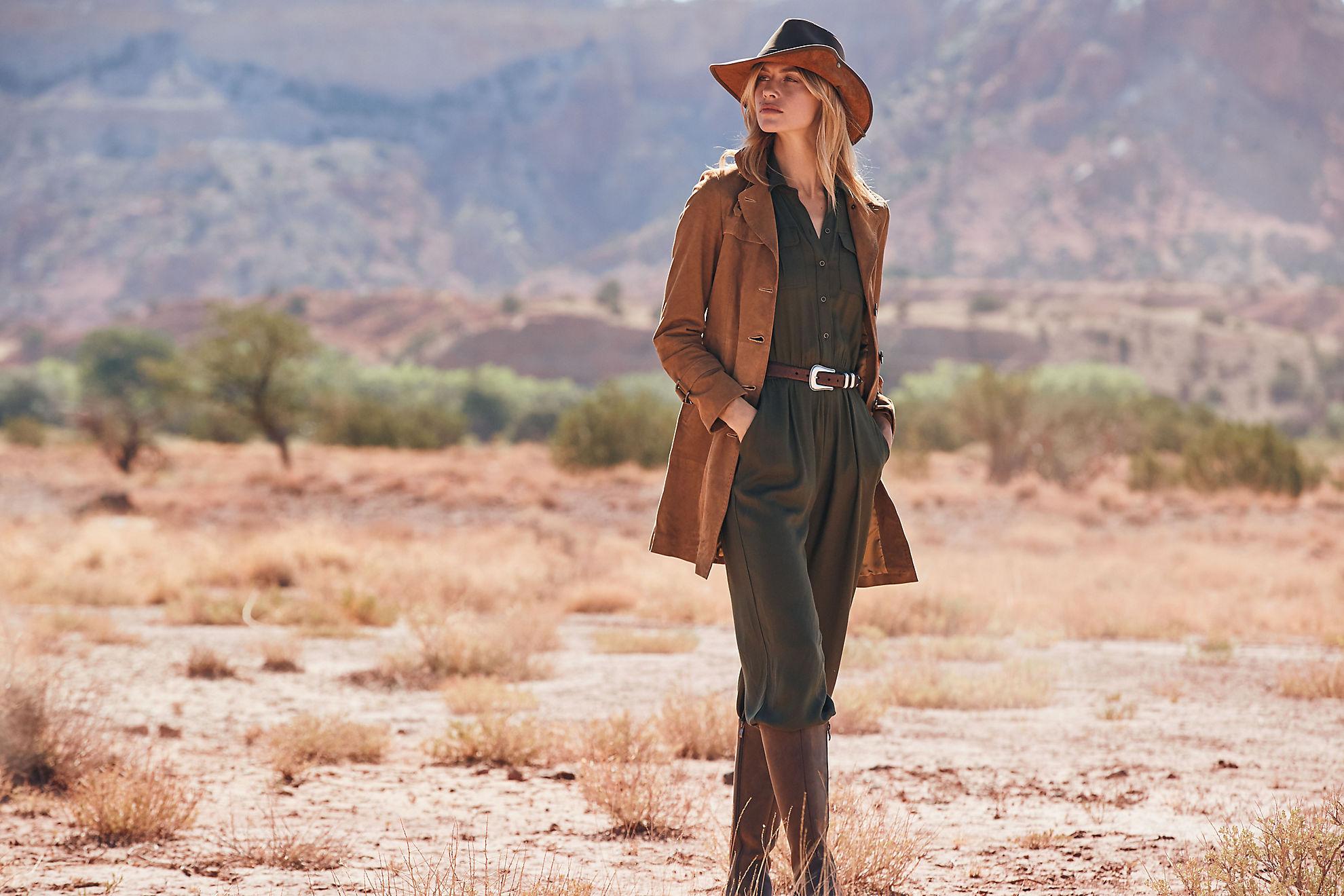Mia Italian Lambskin Suede Leather Trench Coat