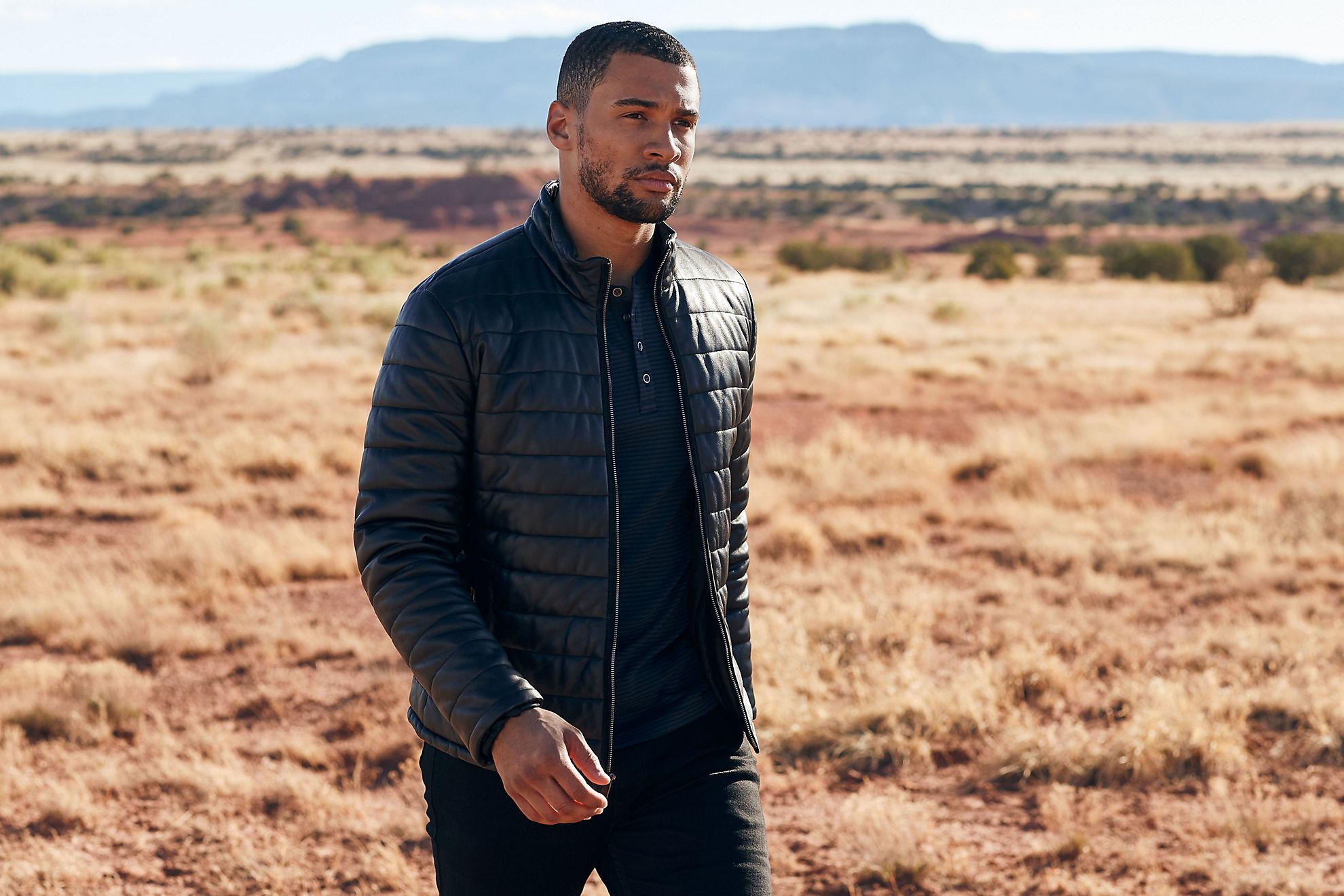 Gavin Italian Lambskin Leather Jacket
