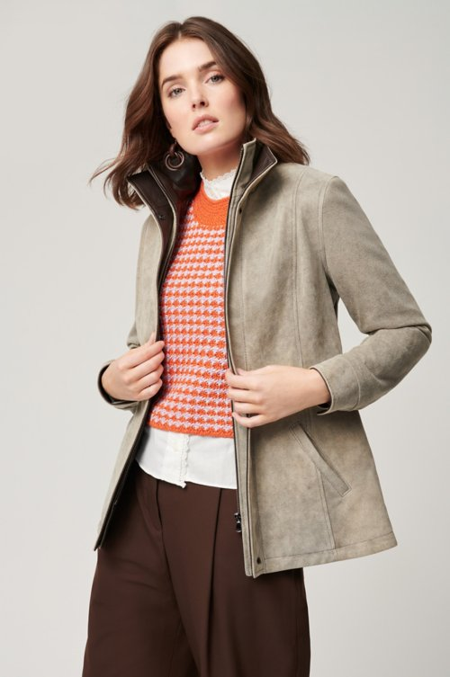 Rory Distressed Lambskin Leather Jacket