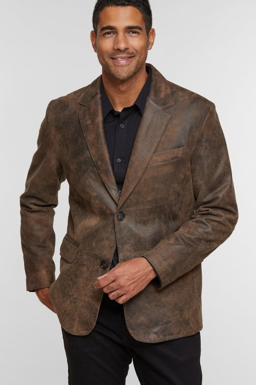 Carlisle Italian Lambskin Leather Blazer