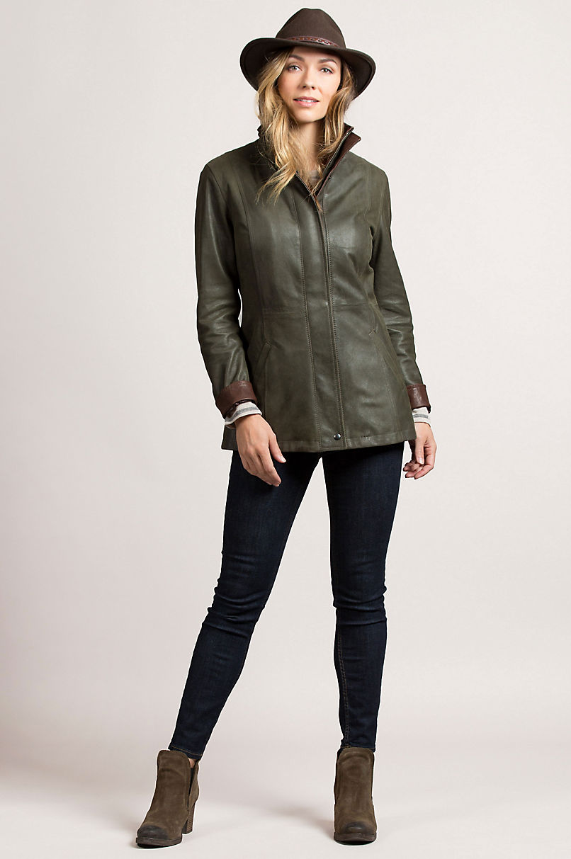 Rory Rustic Lambskin Leather Jacket