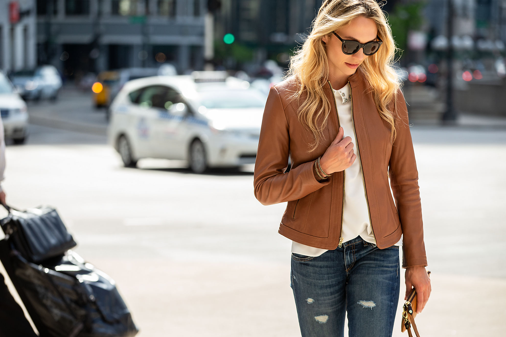 Betty New Zealand Lambskin Leather Moto Jacket