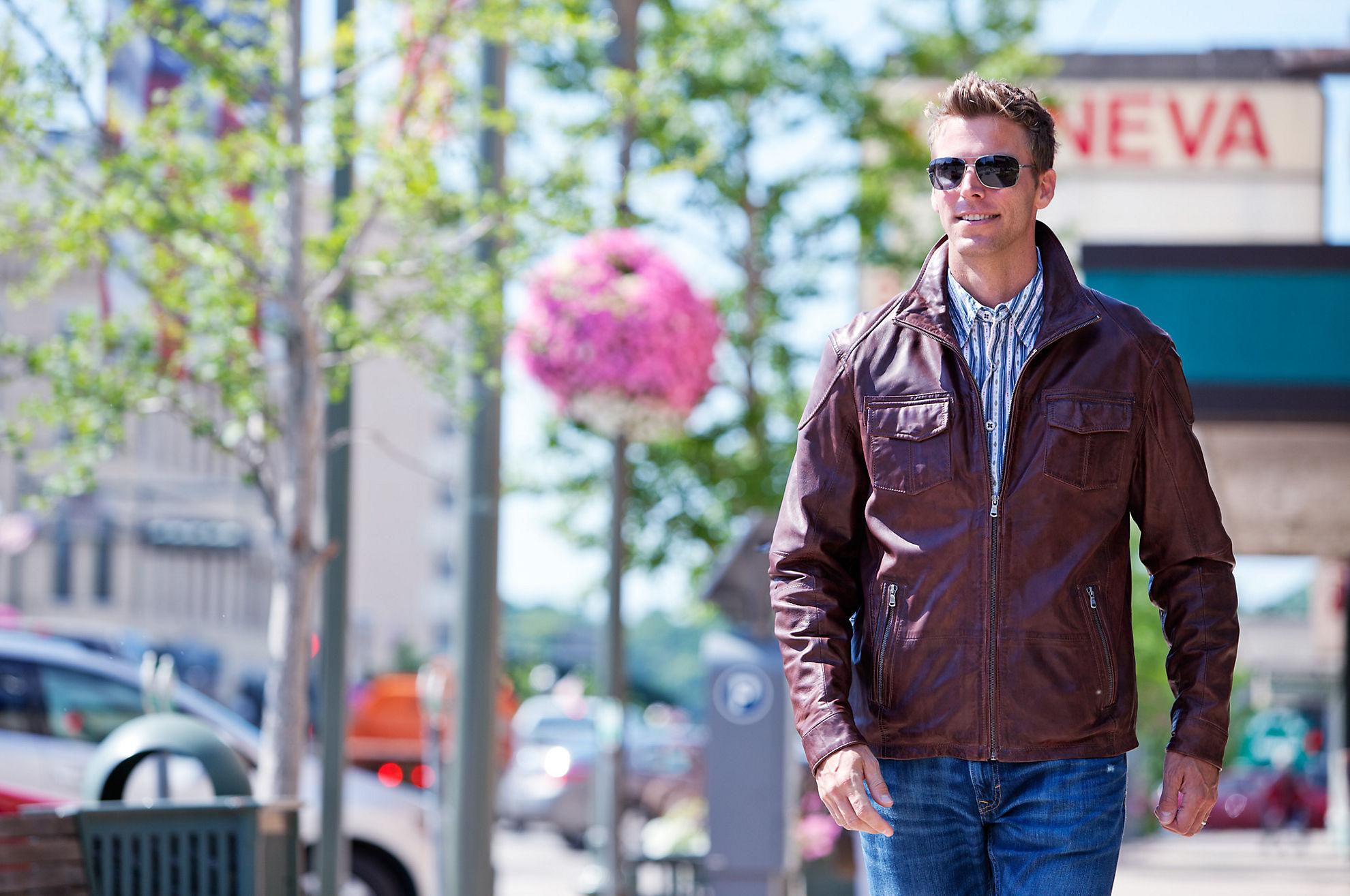 Heath Lambskin Leather Moto Jacket