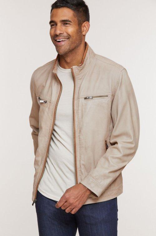Stanley Lambskin Leather Moto Jacket