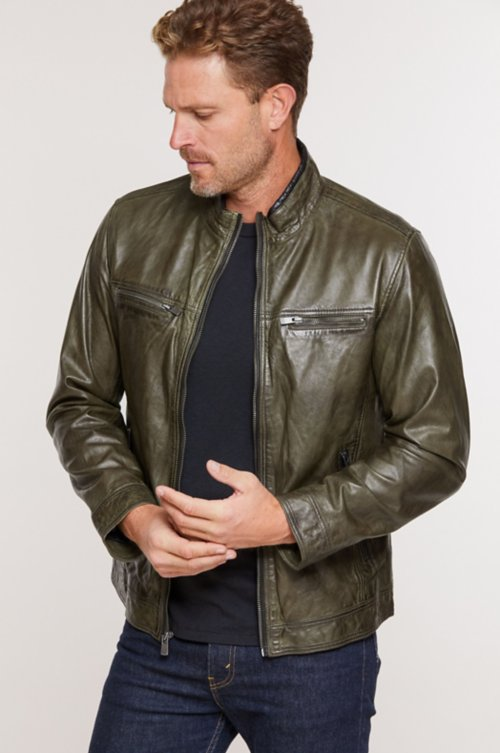 Stanley Lambskin Leather Moto Jacket
